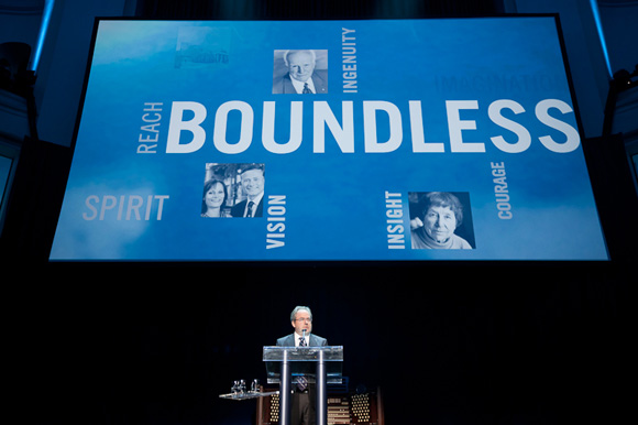 VP of Advancement David Palmer on Boundless at Convocation Hall by Gustavo Toledo