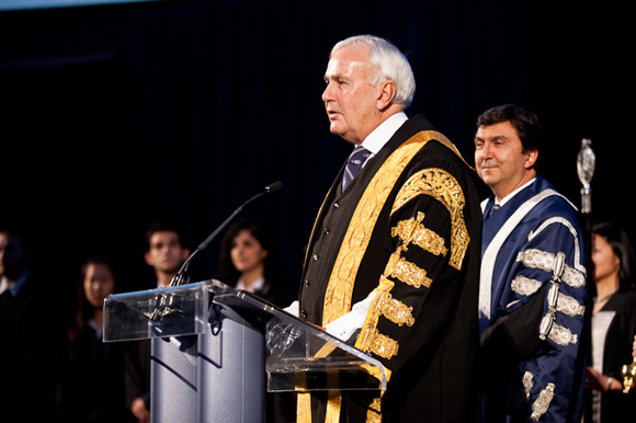Chancellor David Peterson at Convocation Hall by Gustavo Toledo