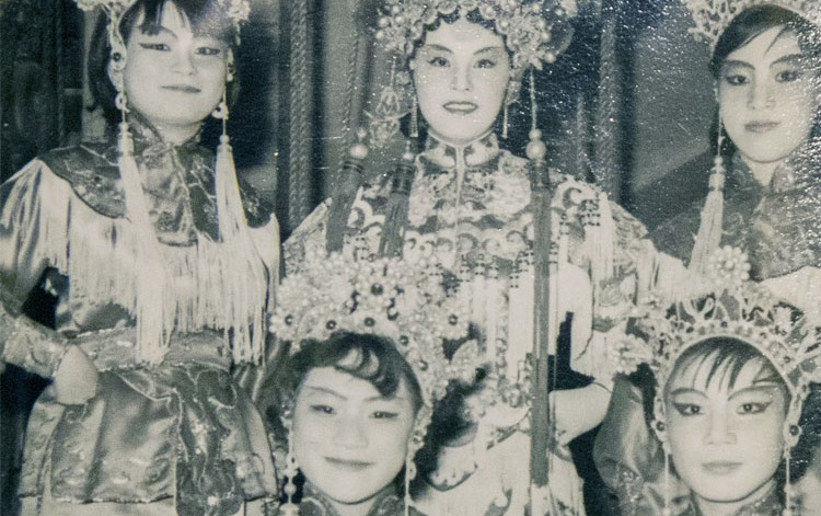 Performers from the Cantonese Opera, in an image from U of T's collection, housed in Uof's Richard Charles Lee Canada-Hong Kong library.
