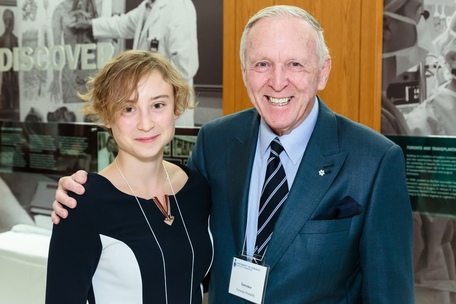 Hannah Kozlowski with Terrence Donnelly