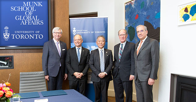 Government of Japan establishes chair and centre in Japan studies at U of T's Munk School