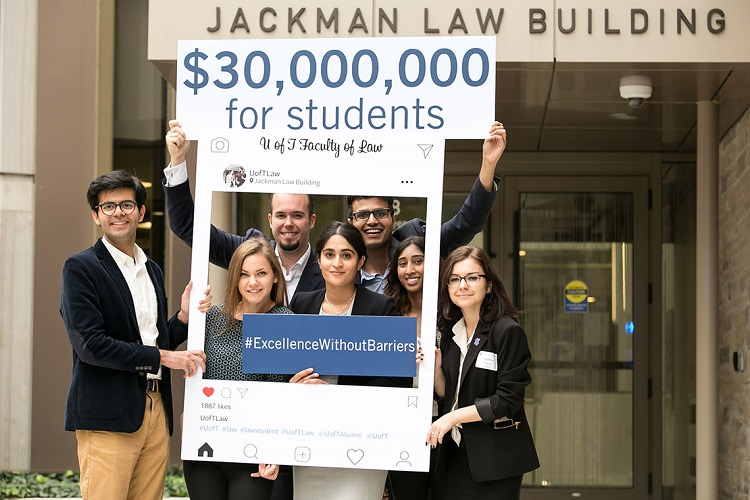 U of T launches $30-million campaign to help law students financially