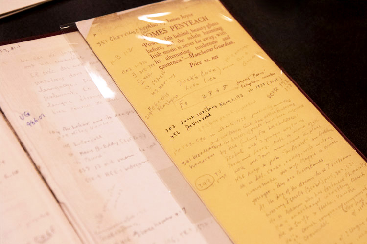 One of Marshall McLuhan's heavily annotated copies of Finnegan's Wake. Photo by Romi Levine.