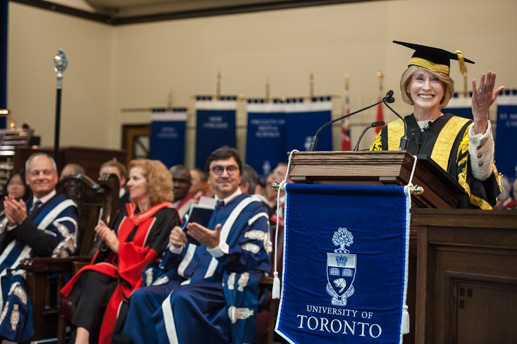 Rose Patten is installed as U of T's 34th chancellor