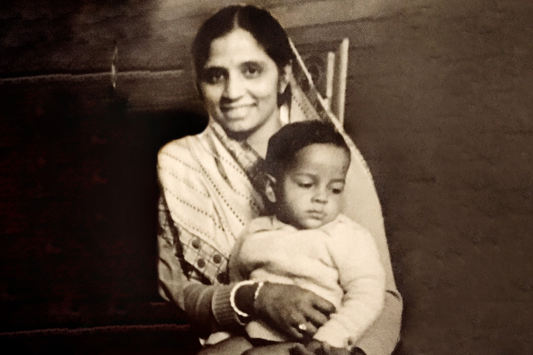 Mohan Nan Pancha with his mother, Sona Naran Pancha, Photo courtesy the Seth and Pancha Families