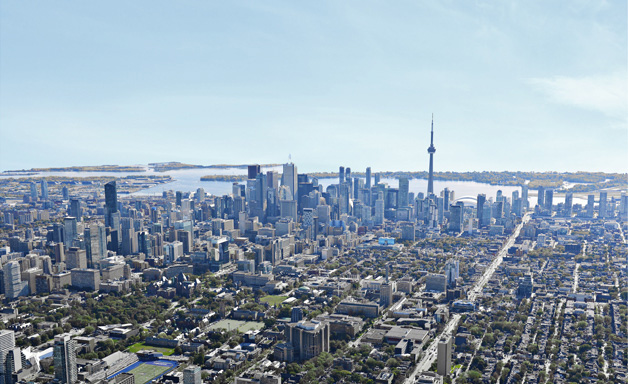 Campaign banner - Toronto arial view