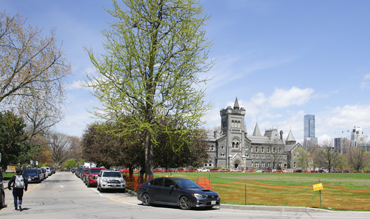 Current view of Front Campus