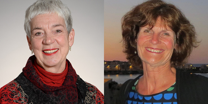 Side-by-side images of Maureen Cava and Susan Blue.