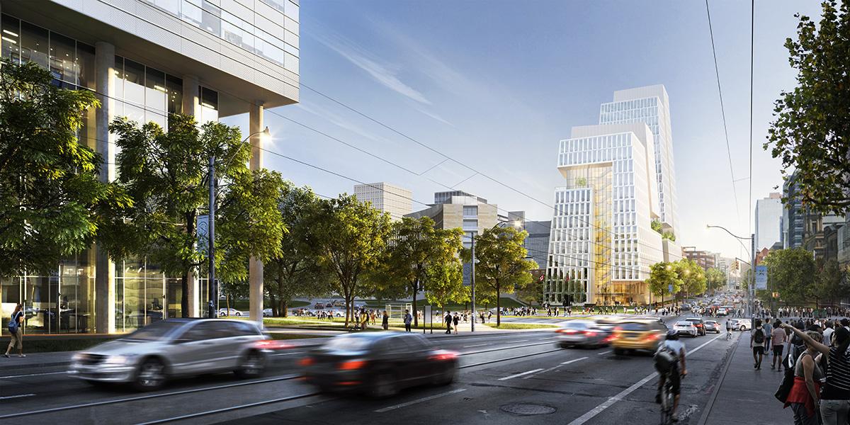 Street view rendering of Schwartz Reisman Innovation Centre
