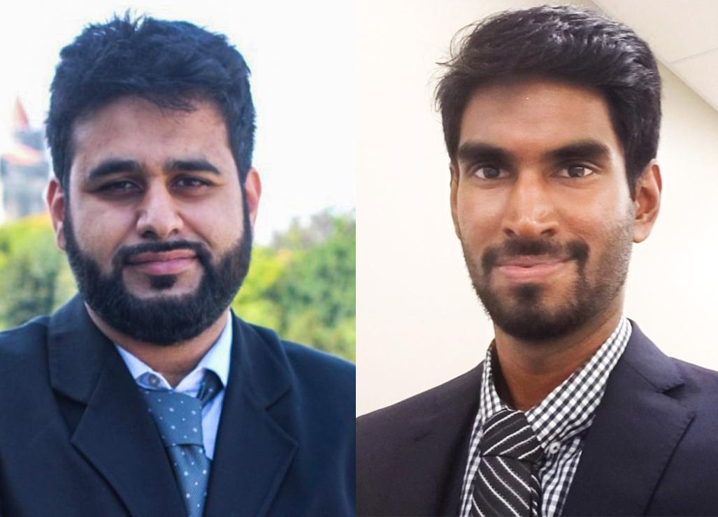 Side-by-side portraits of Bilal Habib and Jathiban (Jay) Panchalingam.