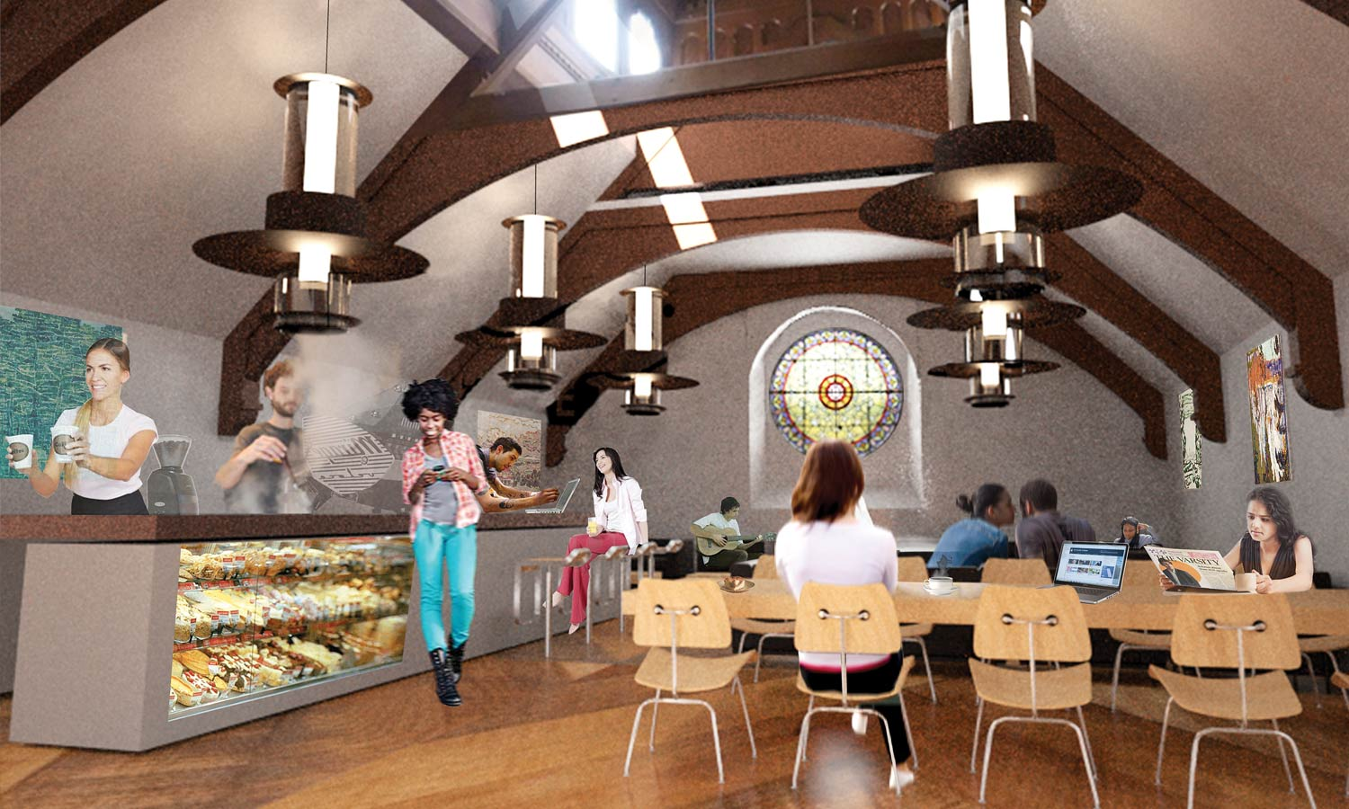 Library Café will meet the food and beverage needs of students using the revitalized UC Library